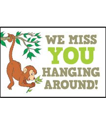 Postcards - Attendance - Miss You - All Ages - We Miss YOU Hanging Around (Pkg. of 25) ...