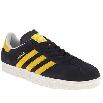 buy online 59350 26d75 adidas Original Gazelle 2 Navy Yellow White Suede New Mens ...
