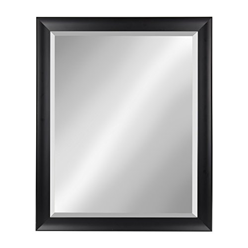Kate and Laurel Scoop Black 26x32 Framed Beveled Wall Mirror (Mirror Entryway Black)