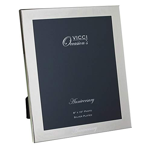 a8db84a8658 VICCI Anniversary Silver Plated 8x10 inch Photo Frame