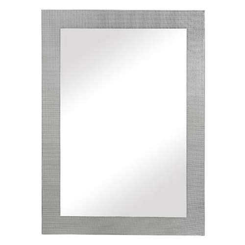 (Majestic Contemporary Rectangular Silver Accent Mirror)