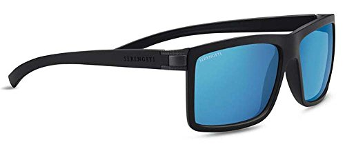 Serengeti Brera Large Sunglasses Sanded Black/Satin Dark Gunmetal, - Sunglasses End For Men High