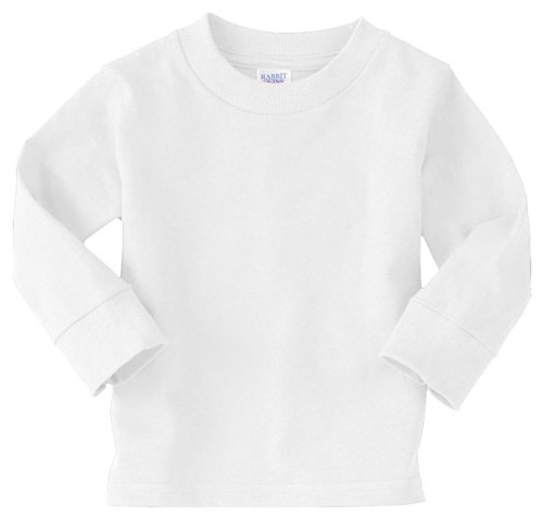 Rabbit Skins 5.5 oz. Jersey Long-Sleeve T-Shirt (3311) White, 2T