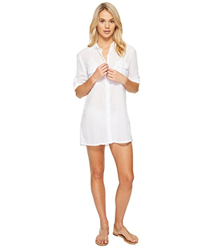 Lauren Ralph Lauren Women's Crushed Camp Shirt Cover-Up White -