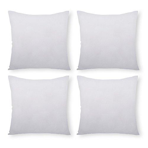 PHANTOSCOPE 4 Packs Polyester Throw Pillow Insert Sham Squar