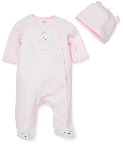 Little Me Bear Layette Set, Pink, Newborn