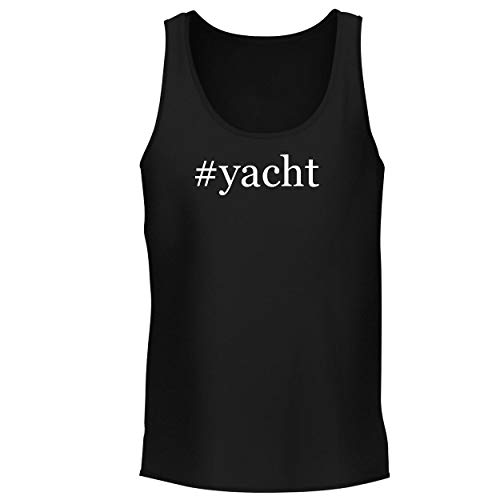 BH Cool Designs #Yacht - Men's Graphic Tank Top, Black, Small ()