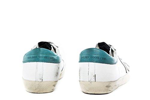 Golden Goose Sneakers Uomo G30MS590B33 Pelle Bianco/Verde