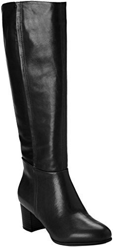 Black Microfiber Knee High Boots - Vionic Womens Tahlia Knee-High Boot Black Size 11