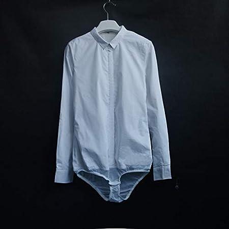 Marca: Tonw MODA De manga larga camisa blanca cuello de la camisa de manga corta mujer