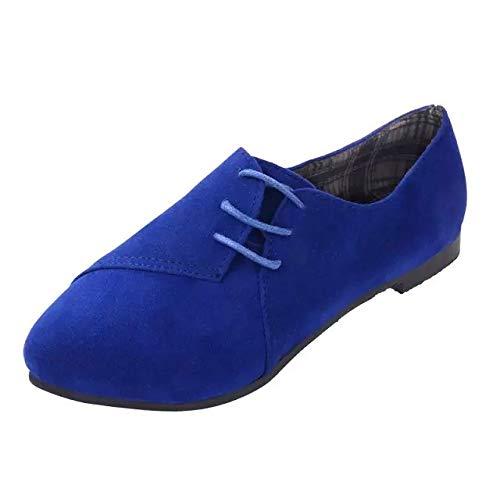 ZHRUI Scarpe (Colore : Marrone, Dimensione : EU 36) Blu