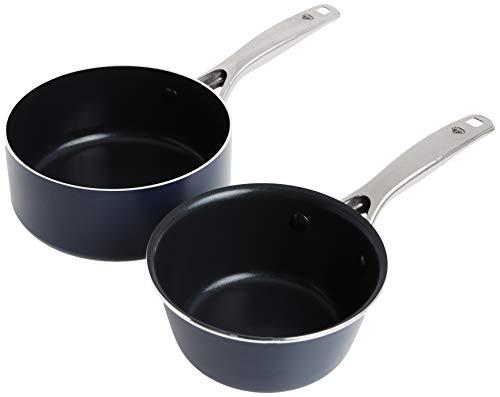 Blue Diamond Cookware, Saucepan Set, 1QT and 2QT