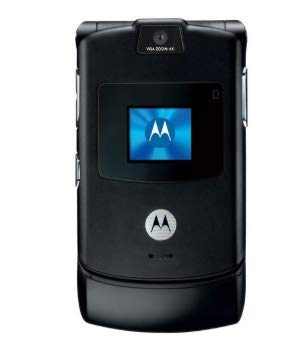 Motorola RAZR V3 Unlocked Phone with Camera, and Video Player-International Version with No Warranty (Black) (Certified Refurbished)