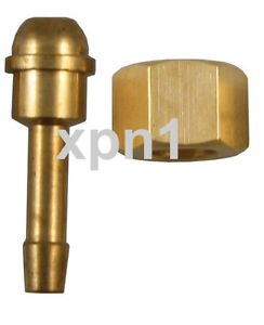 Langley 3/8 BSP RH Nut with 1/4 Tail for (Welding) Regulator or Flow Meter