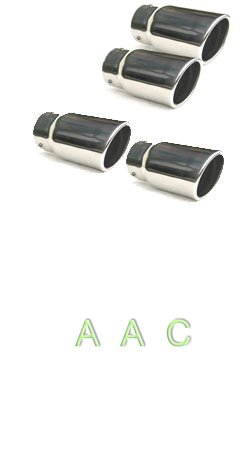 Four Stainless steel exhaust tips w/ mirror polish finish - Chevy Corvette C5 97-05 AJ