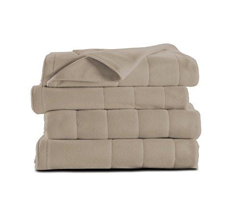 Sunbeam Heated Blanket | Microplush, 10 Heat Settings, Mushroom, Queen