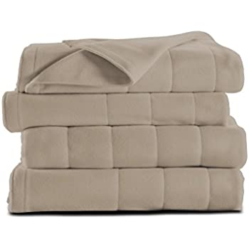 Sunbeam Heated Blanket | Microplush, 10 Heat Settings, Mushroom, Queen - BSM9KQS-R772-16A00