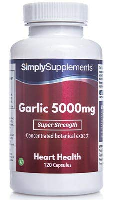Super Strength Garlic 5000mg | Healthy Heart & Circulation | 120 Capsules |...