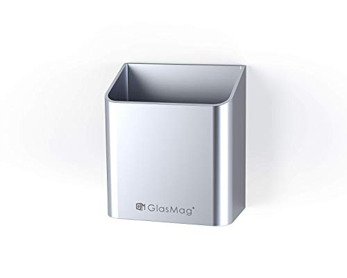 - GlasMag Platinum Magnetic Marker Holder for Glass Whiteboards. Holds 8 Dry-Erase Markers. Satin Anodized Aluminum Finish. Powerful Neodymium Magnets.