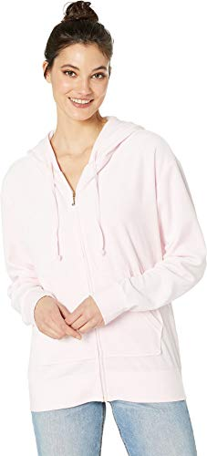 Juicy Couture Women's Beachwood Velour Jacket Whisper Pink Petite/X-Small
