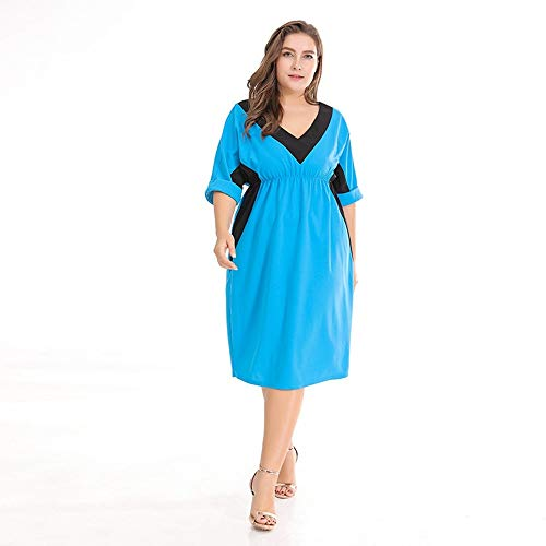 Maglia V Con Blue Scollo Xxl Lungo Vestito Tdpyt Casual In Blu A 8wZ0nPNOkX