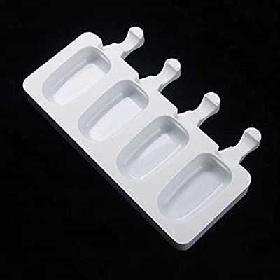 NUOMI Ice Pop Molds Silicone Popsicle Makers, BPA Free Trays, 4-cavity, Great for Cakesicles!