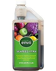 Envii Seafeed Xtra Biologische meststof met algen, bioactieve premium vloeibare meststof met zeealgen, natuurlijke meststof en groeiversneller voor planten en groenten