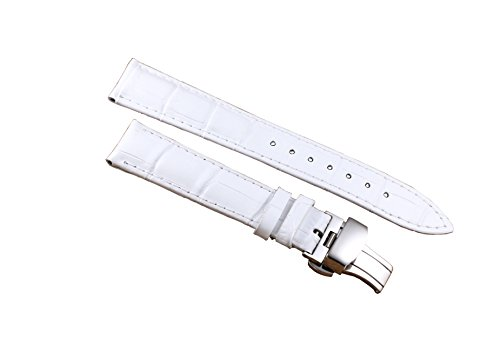 12-22mm-White-Luxury-Deluxe-Womens-Leather-Watch-Band-Strap-Replacement-Alligator-Grain-Genuine-Calfskin