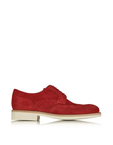 A Testoni Suede Oxfords - a.testoni Men's M45702beh98168ge3 Red Suede Lace-Up Shoes
