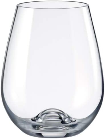 CRYSTAL Stemless Wine Glasses Thin Red