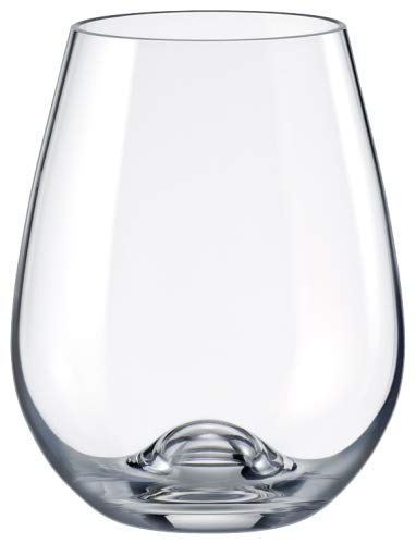 a73cb5bc1cf Drinkmaster - Lead Free Crystal Red Wine Stemless Glass, Set of 6 ...
