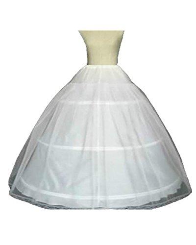 Yxjdress Women's Wedding Petticoat Underskirts Crinoline Bridal Accessory White