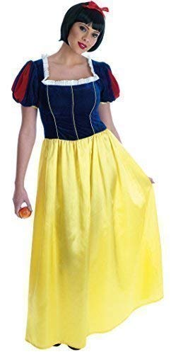 Ladies Full Long Length Snow White Fairy Tale Hen Do Book Day Fancy Dress Costume Outfit UK 8-26 Plus Size (UK -