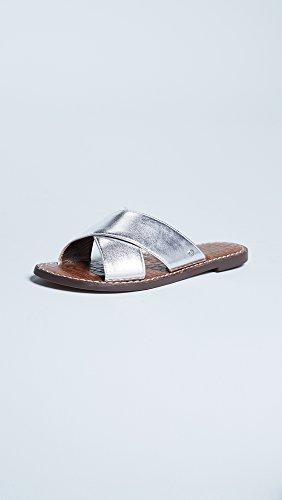 cheap wholesale price Sam Edelman Women's Gertrude Crisscross Slides Silver cheap sale store ogvSJfD2D
