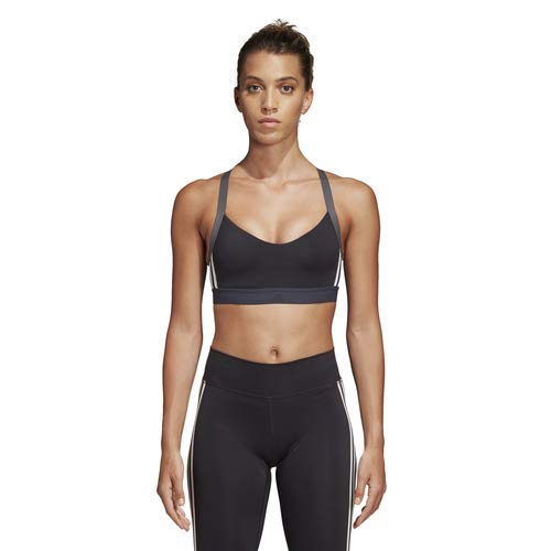adidas Women's All Me 3-Stripes Bra, Black, Large (Adidas Modelle)