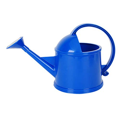 (GAIBO Plastic Watering Can, Long Spout Indoor Modern StyleWatering Pot for Garden Plants Flowers Office,Blue_2.2L/0.6GAL)
