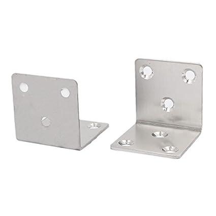 eDealMax 40 mm x 40 mm de metal de 90 grados de ángulo recto soporte de