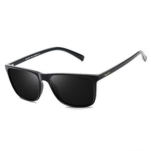GREY JACK TR90 Material Polarized UV400 Protected Rectangle Sunglasses for Men Women 1314