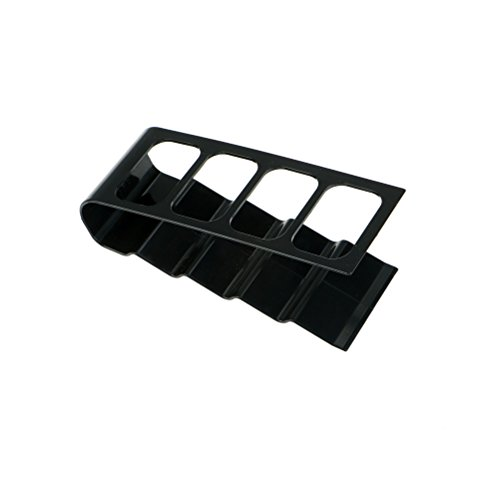 AOWA 1 Pcs TV DVD VCR Step Remote Control Mobile Phone Holder Stand Storage Caddy Organiser,Black ()