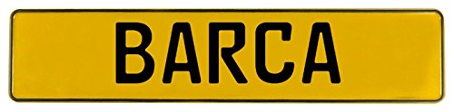 Vintage Parts 601606 Wall Art (Yellow Stamped Aluminum Street Sign Mancave Barca, 1 Pack)