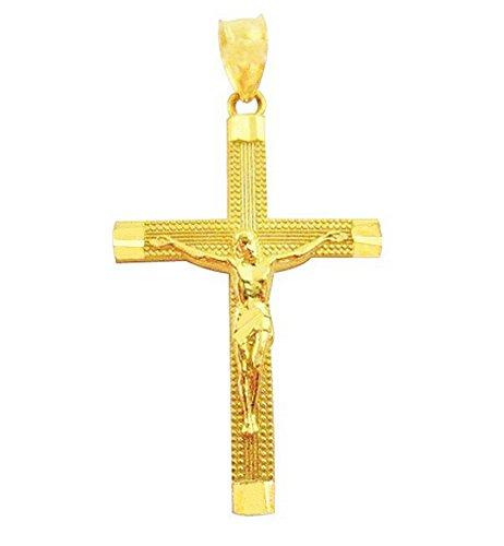 US-Shopsmart 10K Gold Cross Pendant Gold Crucifix Charm