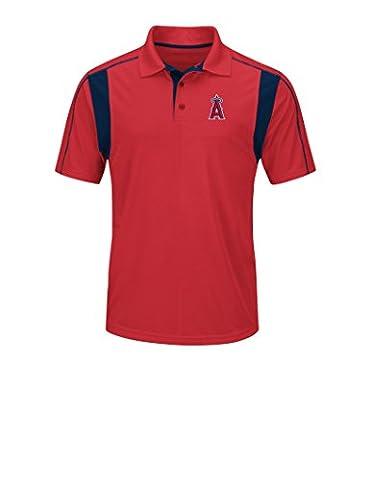 MLB Los Angeles Angels Men's On Field Triumph Tops, Red/Navy, Medium - Cincinnati Reds Polo