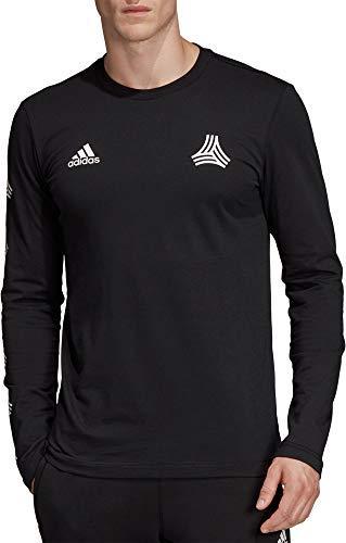 - adidas Mens Tango Graphic Long Sleeve Shirt - Black, Small