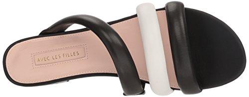 Les White Women's Filles Avec Flat Sandal Carla Black Nappa Off H7dAPw