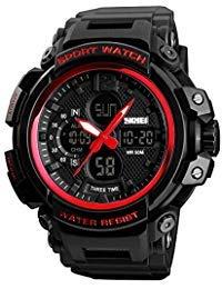 SKMEI Sports Watch Mens Quartz Digital Watch Big Face LED Back Light Chronograph Waterproof Alarm Wrist Watch for Boys