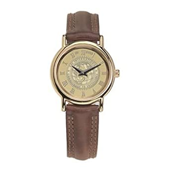 Oklahoma State Cowboys - Ladies 18K Gold 7M Watch Brown