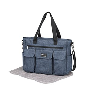 Pirulos 48131943  - Bolso, diseño denim, 50 x 35 x 13 cm, color azulon