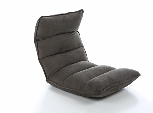 31sqvWPotyL - Christies-Home-Living-Modern-Adjustable-Customizable-Foldable-Fabric-Floor-Gaming-Chaise-Lounge-Chair-Grey