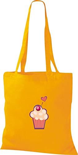Dulces De Amarillo Tela Muffin Con Bolsa Shirtstown Motivos xgTfaI