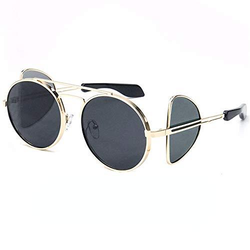 cadre de Lunettes lunettes Taille qualité lunettes Gradient soleil de Les cadeau soleil métal unisexe femme de Polygon en lunettes soleil de Joker Pu soleil pour soleil couleur petit Ocean Lunettes de 0wqI1xaF0